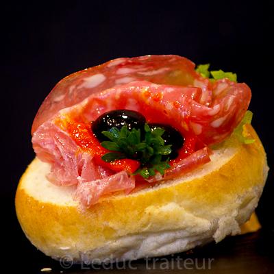 Leduc traiteur sandwiche saucisson
