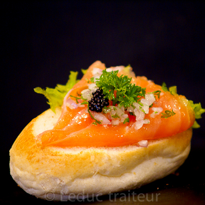 Leduc traiteur sandwiche saumon