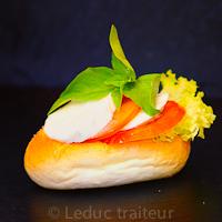 Leduc traiteur sandwiche tomates mozzarella
