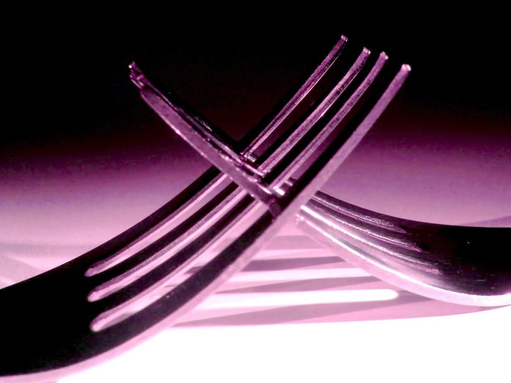 fourchettes croisées