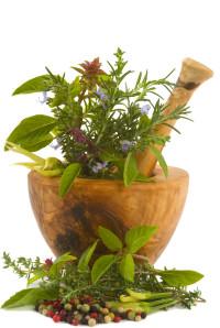 mortier herbes-